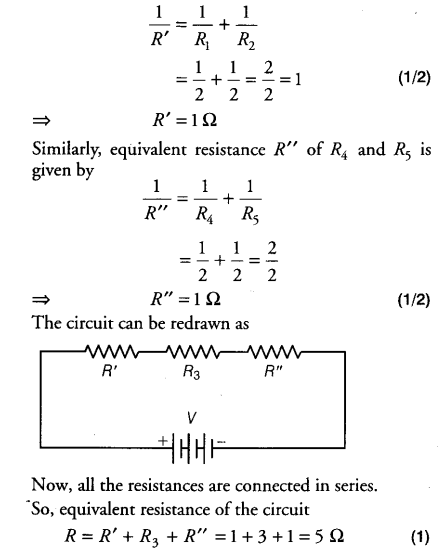 find the equivalent resistance in the following circuit class 10 rh ask learncbse in find the equivalent resistance of the circuit below find the equivalent resistance of the circuit in figure p18.8