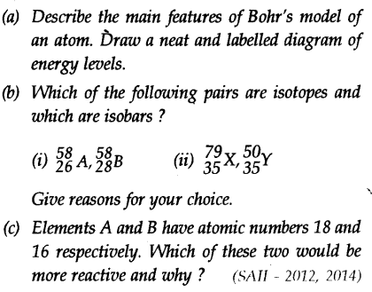 A Describe The Main Features Of Bohrs Model Of An Atom Draw A