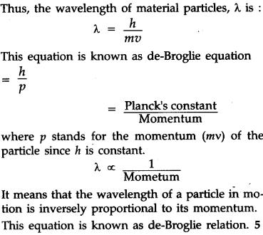de broglie relationship chemistry quiz