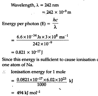 Electromagnetic radiation of wavelength 242 nm is just ...