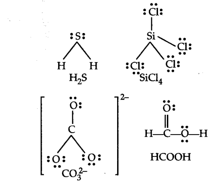 draw the lewis structures for the following molecules and ions