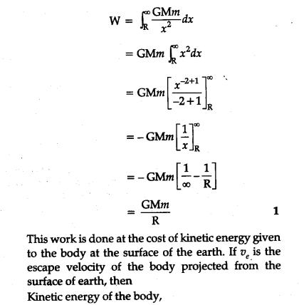 i) Define escape velocity - CBSE Class 11 Physics - Learn CBSE Forum