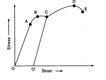 Wondrous The Stress Strain Graph For A Metal Wire Is Given Cbse Class 11 Wiring Cloud Brecesaoduqqnet