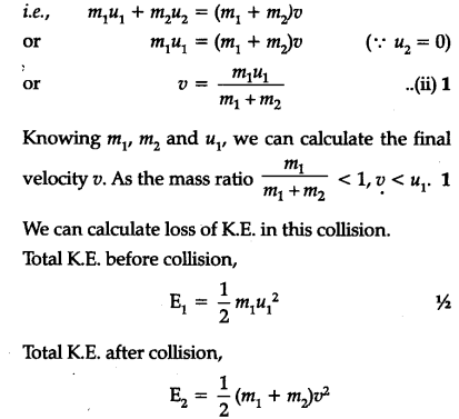 Derive A Relation For An Inelastic Collision In One Dimension