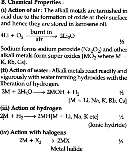What are the common physical and chemical features of alkali metals iv on account of their low ionisation energies these metal atom have great tendency to lose ns1 electron and form positive ions urtaz Gallery