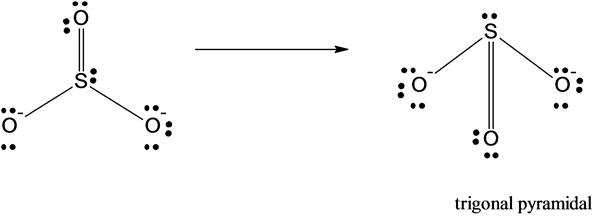 Sulfite Ion Lewis