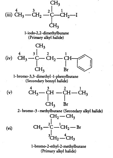 Name The Following Halides According To Iupac System