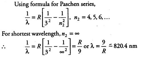 Solution Find the longest wavelength photon emitted in the Balmer series,  and determine its energy
