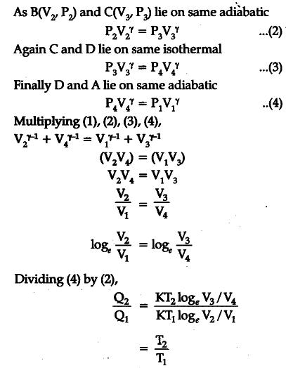 A Bc E A Bb Ac Eb Efd E F C on Carnot Cycle Efficiency Derivation