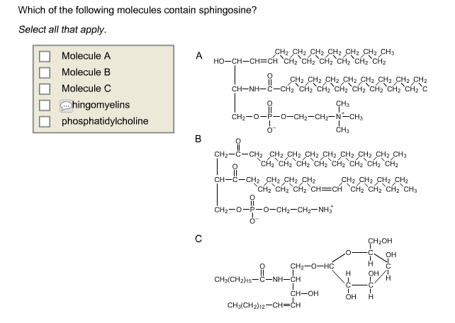 Unsaturated Fatty Acid Molecule Which of the following...