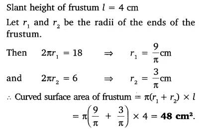The slant height of a frustum of a cone is 4 cm and the