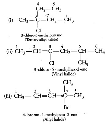 Name The Following Halides According To The Iupac System