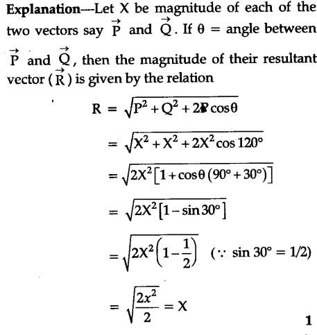 What is the resultant force when the two forces act at ... |Magnitude Two Vectors Formula