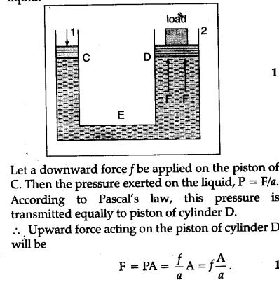 Hydraulic lift diagram data wiring diagrams state pascal s law of transmission of fluid pressure explain how is rh ask learncbse in hydraulic lift circuit diagram hydraulic lift block diagram ccuart Images