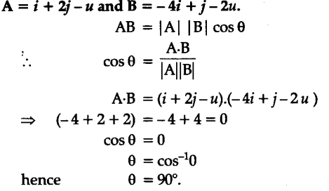 Find the angle between two vectors - CBSE Class 11 Physics - Learn ...