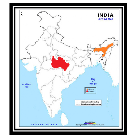 Mark%20ahoms%20and%20gonds%20on%20outline%20map%20of%20India