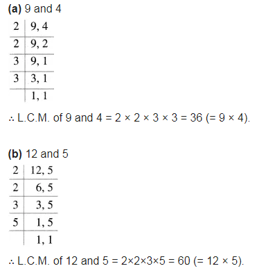 Find the L.C.M. of the following numbers: (a) 9 and 4 - CBSE Class ...